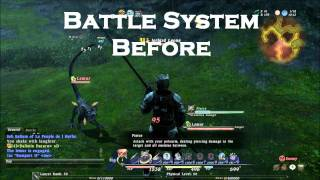 Final Fantasy XIV 1.0 - Battle System Before and After Auto-Attack Was Implemented