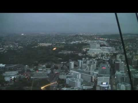 Panorama of Sky Tower, Auckland, New Zealand