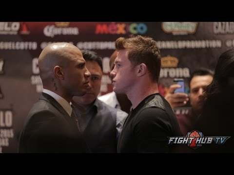 Miguel Cotto vs. Canelo Alvarez full video- Complete press conference + Face off