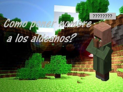 Minecraft - Truco!!!! Como poner nombre a los aldeanos!!!!!