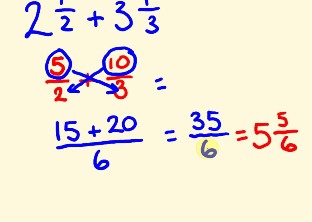 ... the fast way with mixed numbers - cool math trick! - YouTube