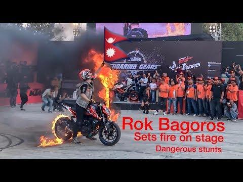 Rok Bagoros stunts in Nepal || The KTM Bike vlog || viral stunts