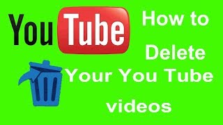 How to delete a youtube videos