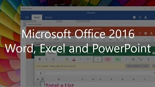 First Look: Word, Excel, and PowerPoint Office 2016 touch apps