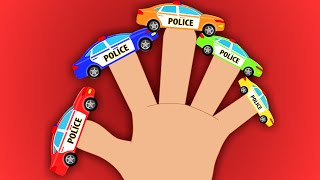 Police Car Finger Family | Finger Family Rhyme | Kids Police Car