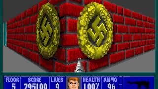 PC GAME懷舊-德軍總部 Wolfenstein 3D-ep3-Floor 5
