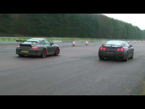Modded GT-R vs 997 GT3 RS @ VMax - November 2010