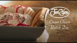 [Cream Cheese Radish Dip - Cooking How-To Video] Video