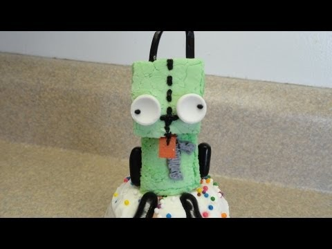 Decorating Cupcakes #88: Gir (Invader Zim)