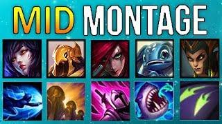 Mid Lane Montage 12 ( Katarina, Fizz, Azir, Ahri,..) | League Of Legends Mid