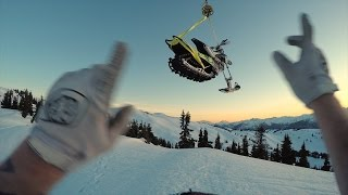 Snowbiking from a Helicopter in the Whistler backcountry | Shot in 4K