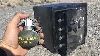 PUBG Grenade inside A Safe iN REAL LIFE  💣🧨💰