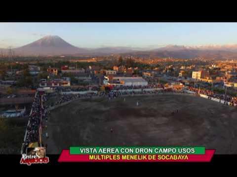 """TOMA AEREA CON DRON DEL CAMPO USOS MULTIPLES MENELIK EN SOCABAYA """"ENTRE ASTADOS"""""""