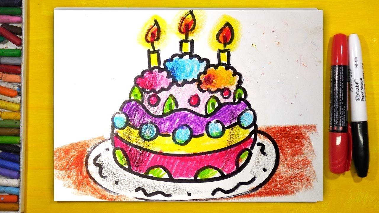 Рисуем на торте с днем рождения