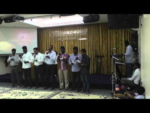 Performing Group Song by Br. Biju Lazer and team in COG Qatar