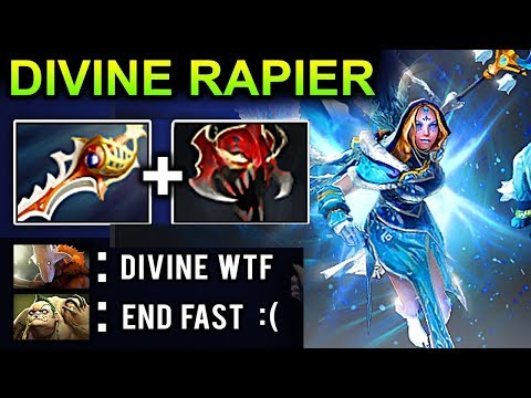 DIVINE RAPIER CRYSTAL MAIDEN DOTA 2 NEW META GAMEPLAY #20 (CARRY CM PATCH 7.08 FUNNY MOMENTS)