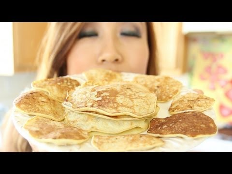 100% Natural Banana Pancakes – Gluten Free, Flourless, Low Calorie | FOOD BITES Recipe