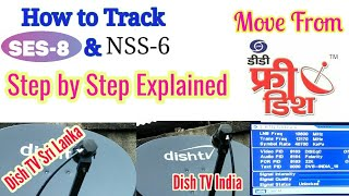 SES 8 at 95°E Signal tracking & 2ft Dish easy Setting from DD free Dish 8.08 MB