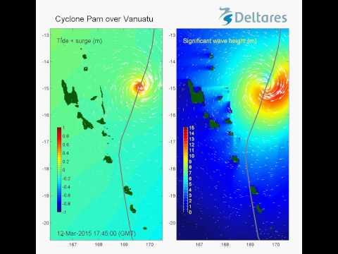 Cyclone Pam over Vanuatu