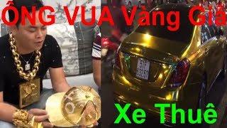 13kg vàng trên người Phúc XO là đồ giả, Phúc XO chi gần 1 triệu đồng/ngày thuê xe ô tô mạ vàng!!!