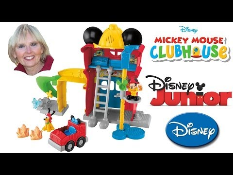 ♥♥ Unboxing Mickey's Funny Firehouse Mickey Mouse Clubhouse for Christmas 2013