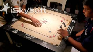 Carrom World Cup 2014 - Chamil vs Srinivas Black Slam ( Break to Finish)