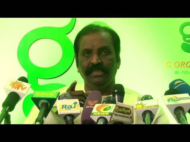 Vairamuthu Talks About Healthy Organic Foods - Red Pix 24x7