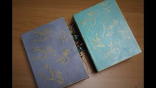 Marble hand painted journals