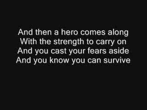 Mariah Carey Hero Lyrics video