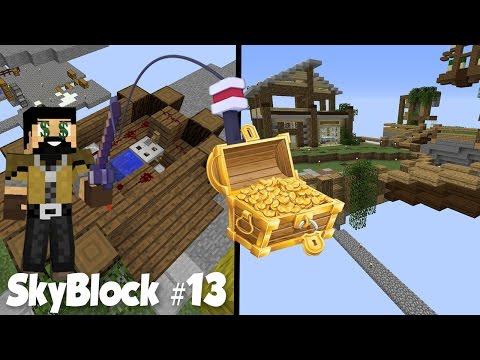SkyBlock #13: Чудеса АФК Рыбалки и Потайной мини-склад!