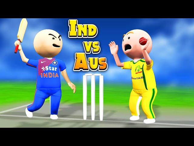 3D ANIM COMEDY - CRICKET || INDIA VS AUSTRALIA || 2ND ODI || LAST OVER thumbnail