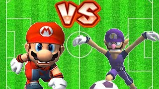 Super Mario Strikers - Waluigi(Me) Vs Mario Round 1 (Professional Difficulty) Flower Cup
