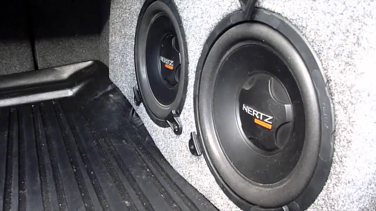 2009 Acura TSX Custom Subwoofer Installation - YouTube