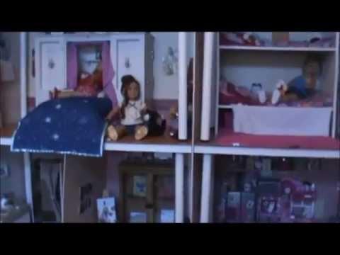 giant american girl doll house loft room tour youtube
