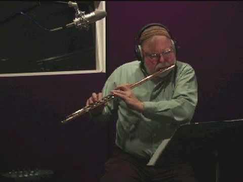 Jazz flutist plays a bebop classic