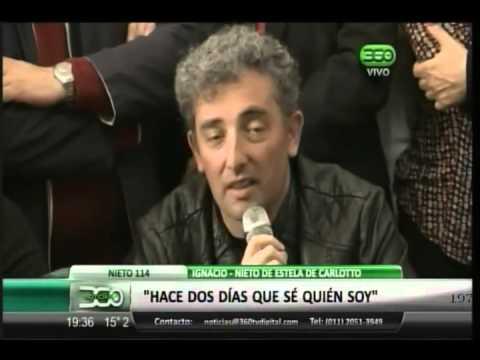 360 TV - El nieto de Estela de Carlotto habló en Conferencia de Prensa