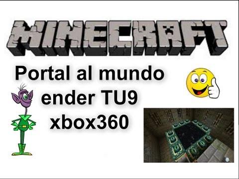 Tutorial como hacer un portal al mundo enderman Minecraft Xbox360