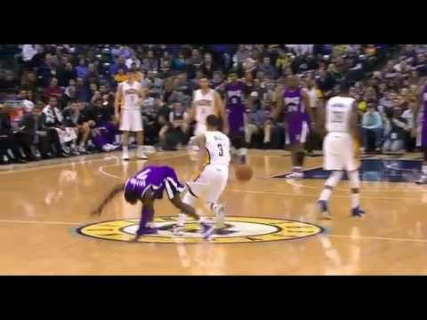Darren Collison flops on George Hill: Sacramento Kings at Indiana Pacers