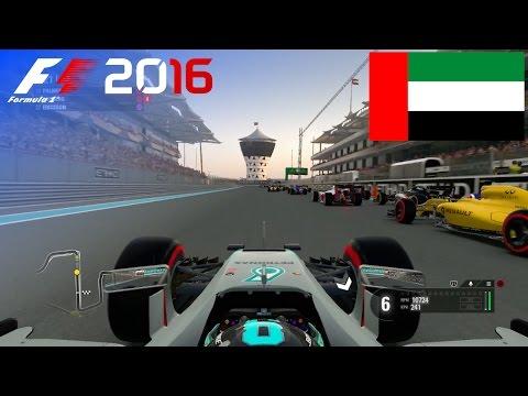 F1 2016 - 100% Race at Yas Marina Circuit, Abu Dhabi in Rosberg's Mercedes