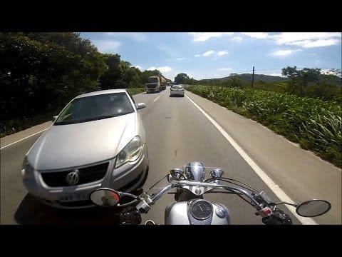 Acidente BR-280 câmera em capacete
