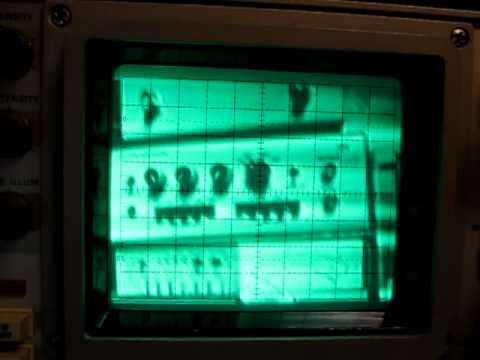 Composite Video on an Analog Oscilloscope using XYZ - Lab tour...