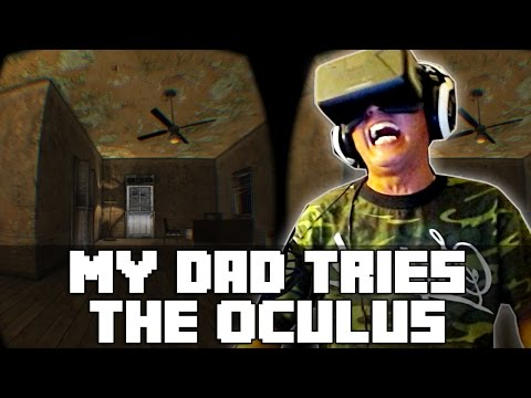 My Dad Tries The Oculus Rift | Funny Reactions