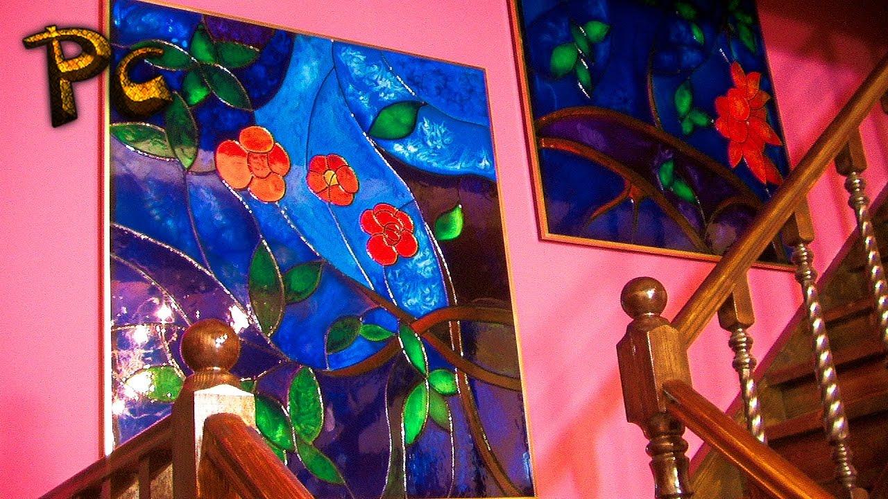 Витражное стекло своими руками с детьми 91