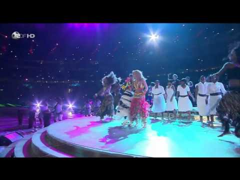 Waka Waka - Shakira [HD] World Cup closing ceremony live performance