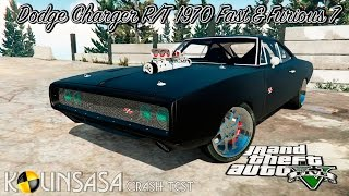 GTA 5 Crash test - Dodge Charger R/T 1970 Fast & Furious 7