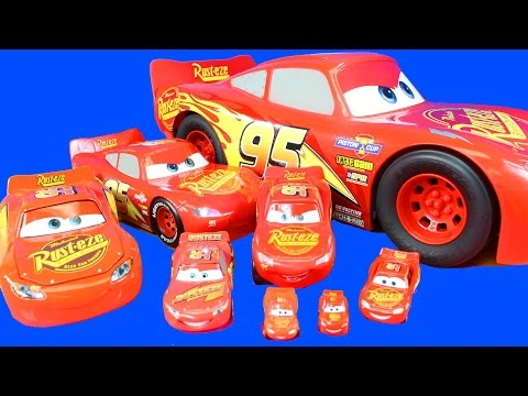 Disney Cars 3 World's Biggest Mattel Toy Pixar Lightning McQueen And Collection