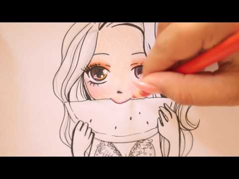 How to draw a cartoon girl