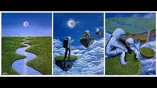 """""""Emerald Islands""""  A timelapse of this acrylic painting series"""