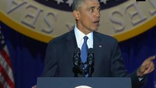 """""""#Democracy requires rising and falling as one"""": #BarackObama - #ANI #News"""