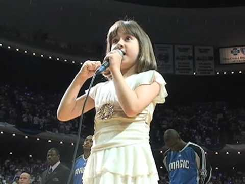 7-year-old Gina Incandela Sings National Anthem